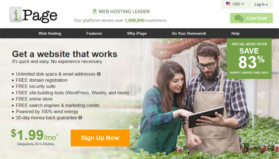 iPage web hosting offer